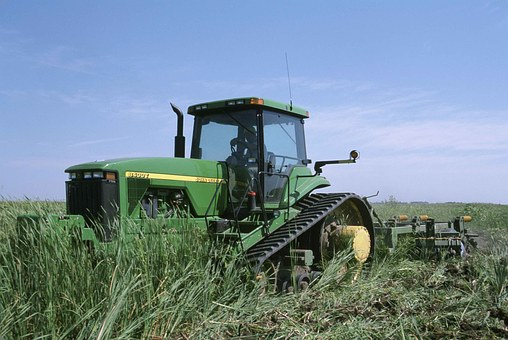 Grass, Working, Wehicle, Stron, Big, Tractor, Vehicles