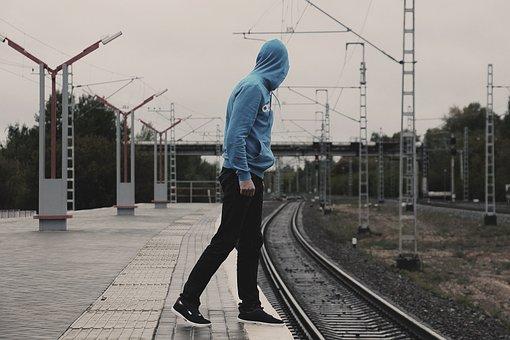 Stand By, Train, Railway, Suetsid, Hope, Man