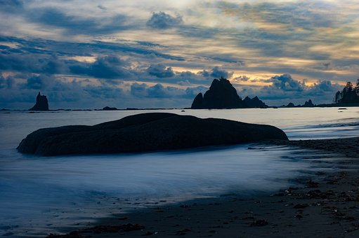 Sea Stacks, Coast, Beach, Shore, Washington