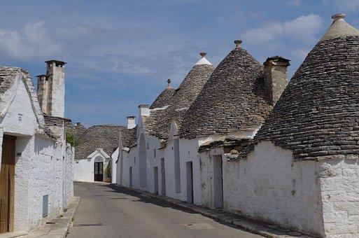 Alberobello, Trulli, Puglia, South, Apulia, Summer
