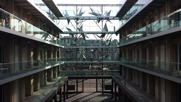 Courtyard, Hotel, Amadi Park Hotel, Amsterdam