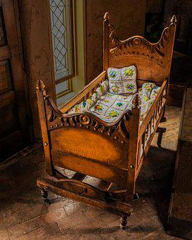 Baby Cradle, Antique Baby Cradle, Baby Crib