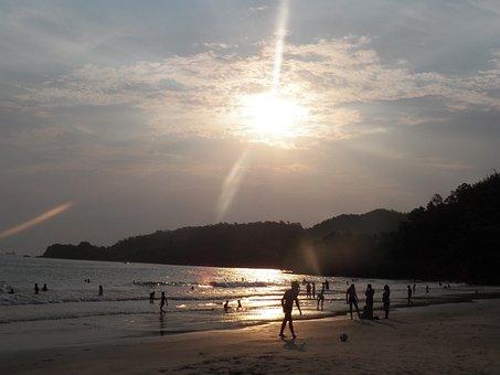 Sol, Sunset, Dove, Beira Mar, Peace, Guaraqueçaba, Kid