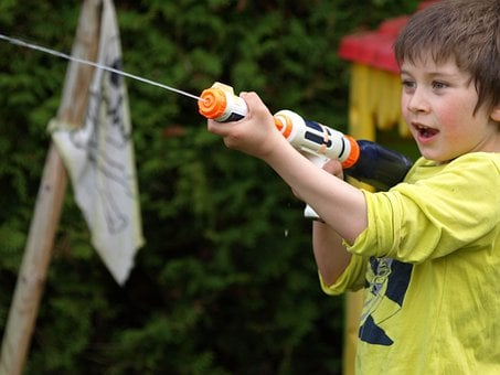 Water Gun, Spray Gun, Toys, Child, Play, Colorful