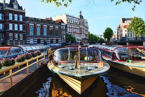 City, Boats, Canal, Urban, Cityscape, Europe, Building