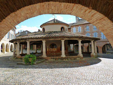 France, Village, Hall, Former, Good Looking, Auvillar