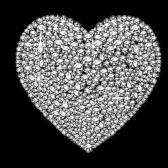 Diamonds, Heart, Diamond-heart, Gemstone, Gem, Jewelry