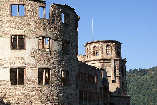 Ottheinrichsbau, Heidelberg, Castle, Germany, Ruined