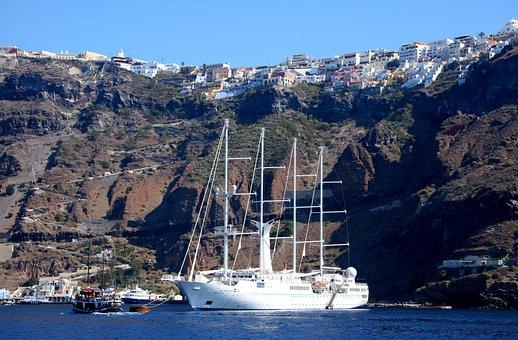 Santorini, Greek Island, Caldera, Greece, Volcanic