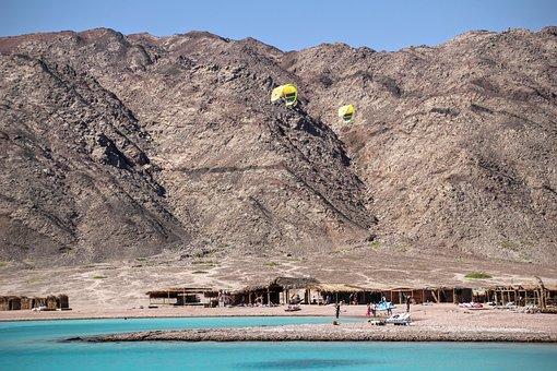 Blue Lagoon, Egypt, Beach, Kite Surfing, Wind Surfing