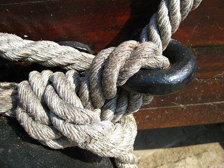 Knot, Thaw, Rope, Hemp Rope, Fixing