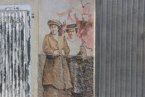 Sardinia, Orgosolo, Murals, Italy
