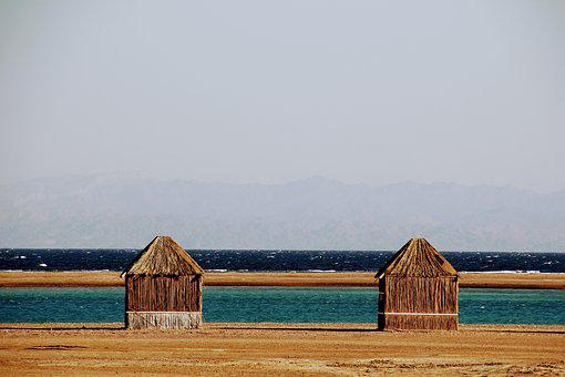 Nomad Home, Bedouin, Bedouin House, Small, Sea, Water