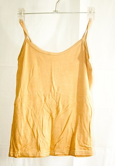 Chemise, Undershirt, Shirt, Top, Yellow, Female, Girl