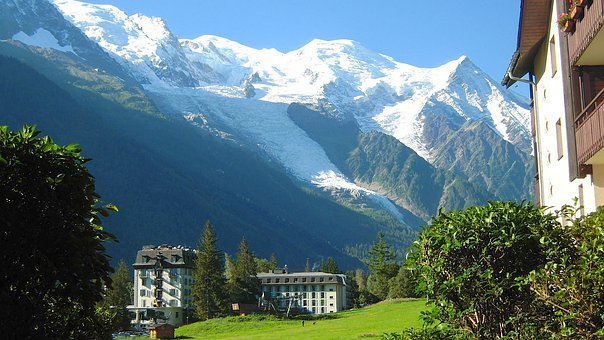 Mont Blanc, France, Mountains, Snow, Ice, Valley