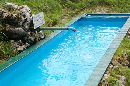 Source, Pool, Basin, Water, Brunne, Schlichem, River