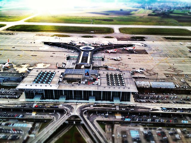 Basel, Airport, Travel, Sunset, Fly, Overflight, View
