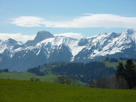 Switzerland, Mountains, Gantrisch Massif
