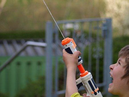 Water Gun, Spray Gun, Toys, Child, Play
