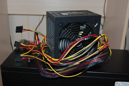 Computer, Power Supply, Wire, Accessories, Background