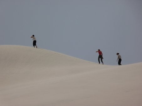 Sand Dune, Trekking, Argentina, Walk, Tourism