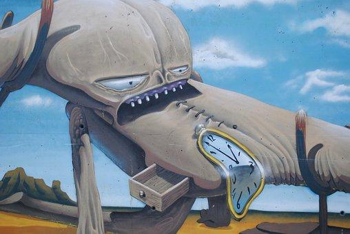 Salvador Dali, Graffiti, Street Art, Artist, Catalan
