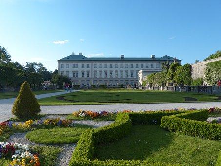Mirabell Palace, Garden, Park, Building, Baroque