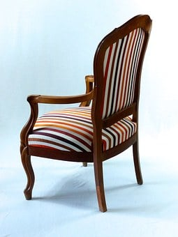 Chair, Louis Philippe, Fabric, Upholsterer