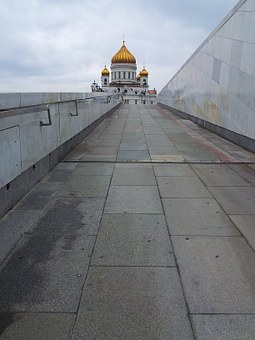 Moscow, Christ The Savior Cathedral, Cathedral, Road