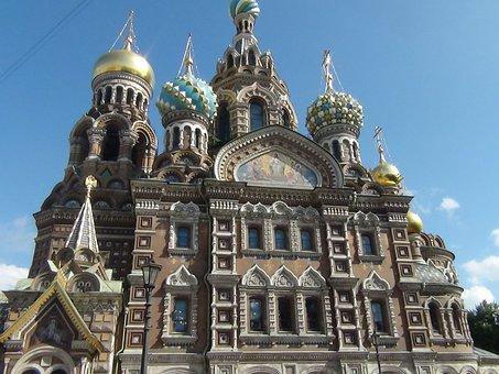 Church, Blood, Shed, St Petersburg, Russia, Savior