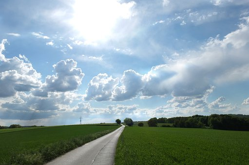 Landscape, Wide, Sky, Clouds, Dramatic Clouds, Trees