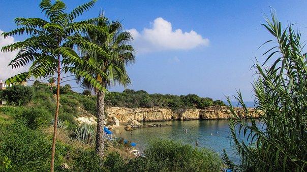 Beach, Cliff, Malamas Beach, Kapparis, Cyprus, Tourism