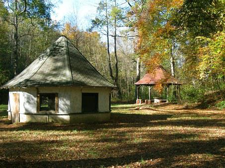 Springhouse, Gazebo, South Carolina, Fall, Autumn