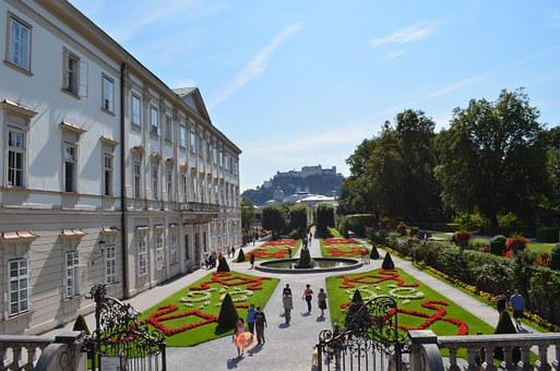 Mirabell Gardens, Salzburg, Garden, Castle, Fountain