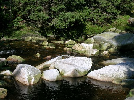 Kvilda, Hike, Nature, Rest, River, Stones, Idyll