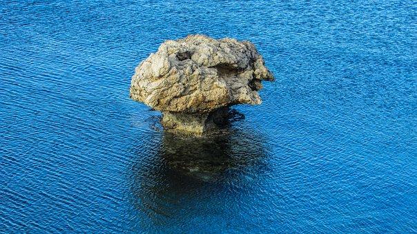 Cyprus, Kapparis, Rock, Sea, Mushroom