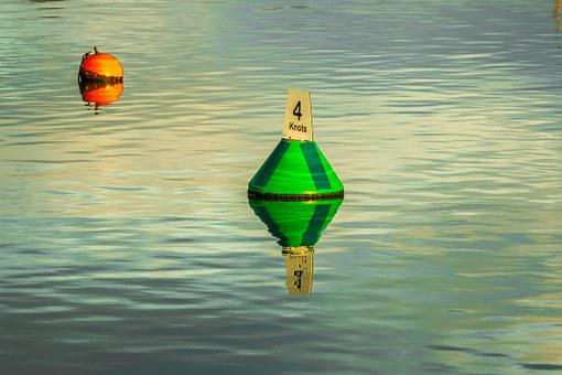 Buoy, Water, Keyhaven, United States Of America