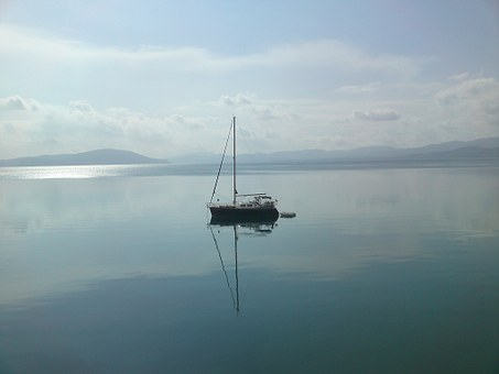 Sailboat, Gera Bay, Lesvos, Greece