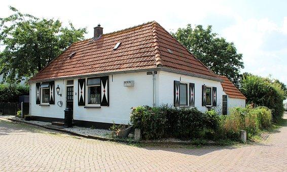 Batenburg, Village, Cottage, White, House, Little