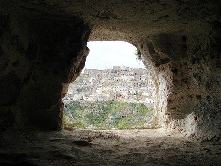 Matera Caves, Cave, Southern Italy, Matera View