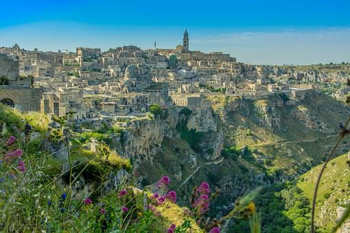 Matera, Italy, Atmosphere, Scenery, View