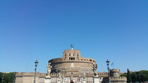 Sant Angelo, Rome, Castle, Landmark, Monument, Fortress