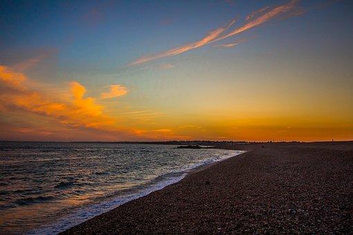 Keyhaven, United States Of America, Beach, Ocean