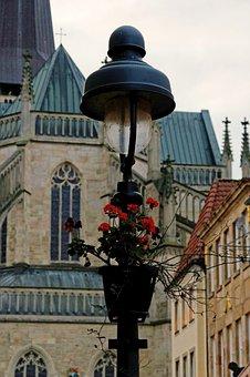 Osnabrück, Street Lamp, Church