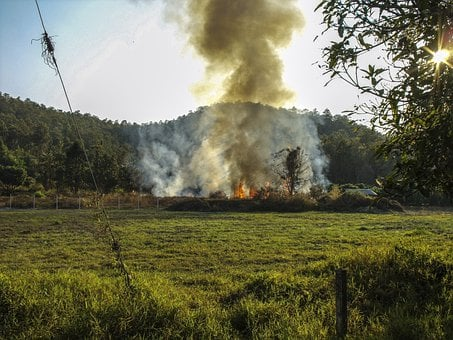 Fire, Smoke, Environmental Dirt, Pollution