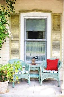 Country Porch, Porch Chairs, Patio, Country, Furniture