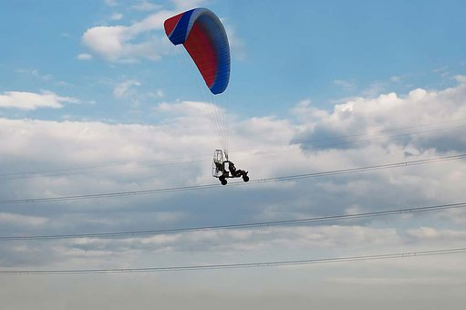 Glider, Motorized, Power, Line, Sky, Extreme, Air, Fly