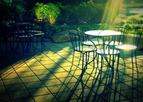 Patio, Morning, Chairs, Outside, Table, Outdoor, Relax