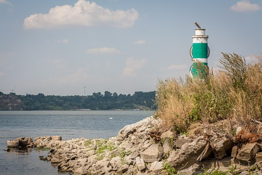 Lantern, Riverbank, Beach, River, Wisla, Summer