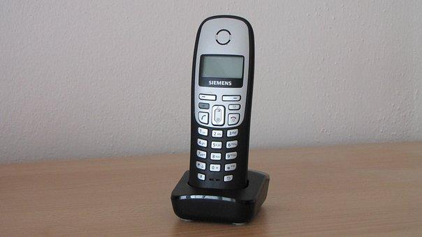Phone, Siemens, Gigaset, Cordless, Charging Cradle